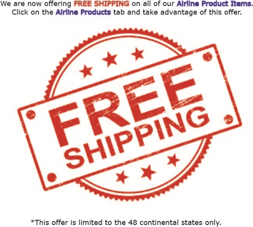 FREE SHIPPING ON AIRLINE ITEMS