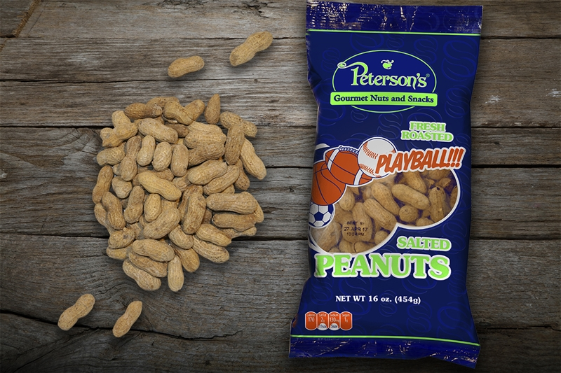 Salted in Shell Peanuts - 1 lb.- Play Ball Bag